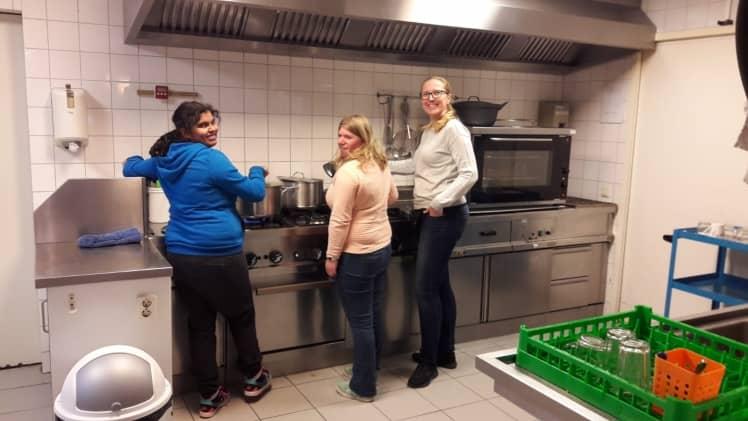 Samen koken in de keuken